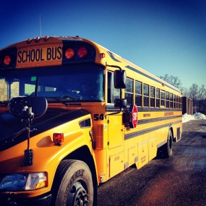 School Bus headed to Hartford.